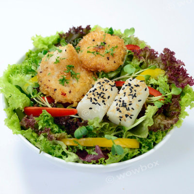 E2. Pan-fried Basa Fish Salad
